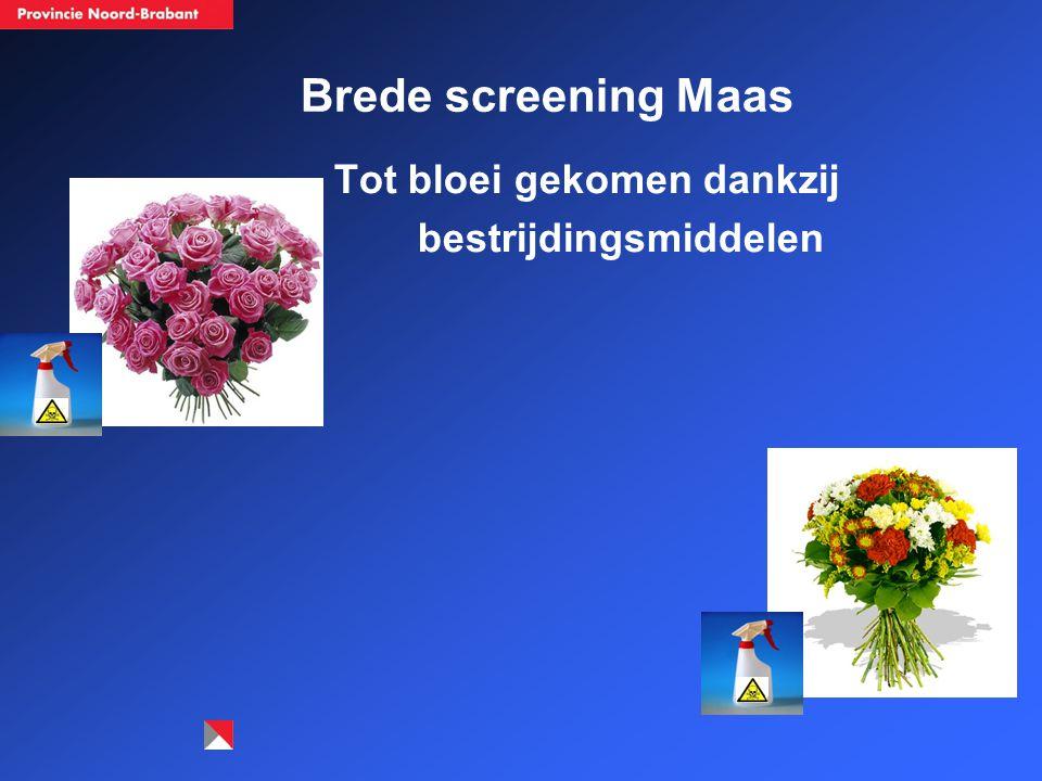 Brede screening Maas Tot bloei gekomen dankzij bestrijdingsmiddelen