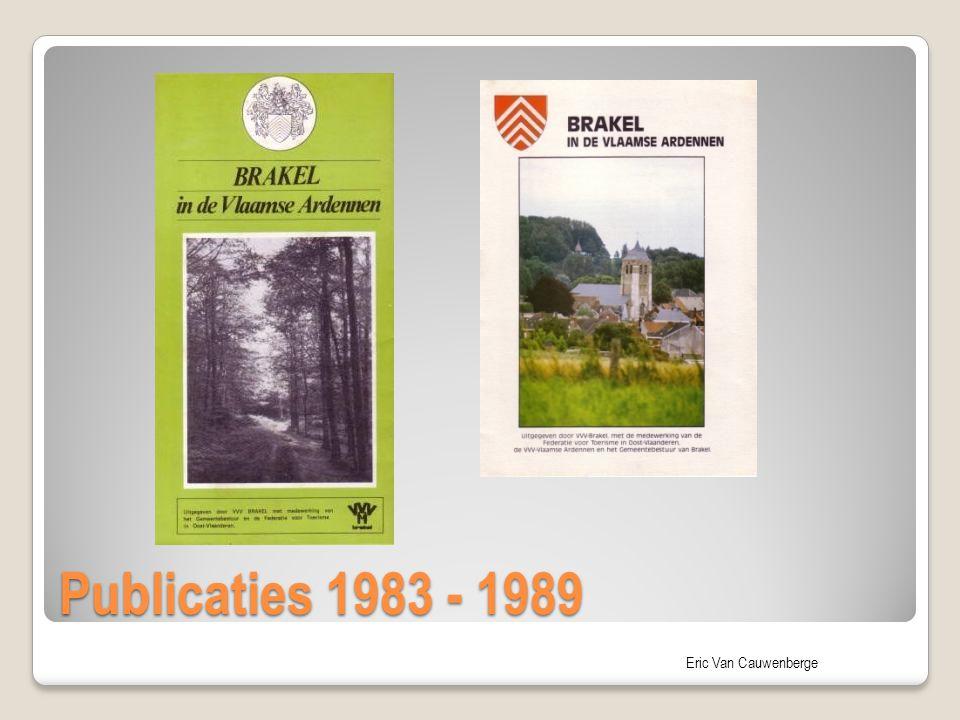 Eric Van Cauwenberge Publicaties 1983 - 1989