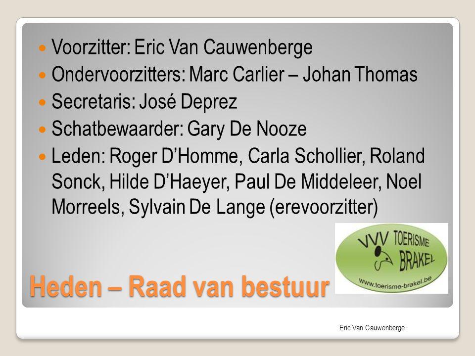 Eric Van Cauwenberge Heden – Raad van bestuur Voorzitter: Eric Van Cauwenberge Ondervoorzitters: Marc Carlier – Johan Thomas Secretaris: José Deprez S
