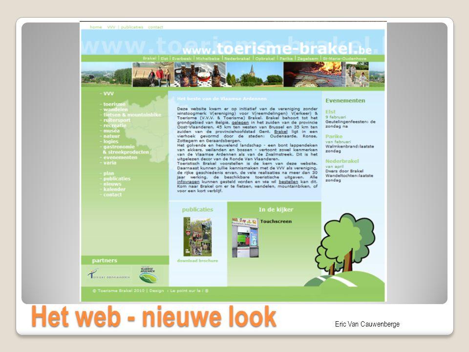 Eric Van Cauwenberge Het web - nieuwe look