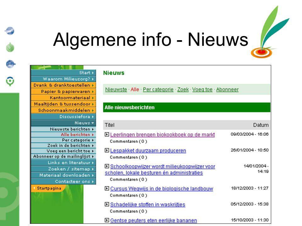 Bond Beter Leefmilieu, Koepel van Vlaamse milieuverenigingen Algemene info - Nieuws