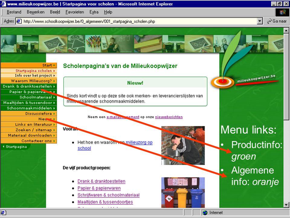 Bond Beter Leefmilieu, Koepel van Vlaamse milieuverenigingen Surfen www.milieukoopwijzer.be Mailen info@milieukoopwijzer.be