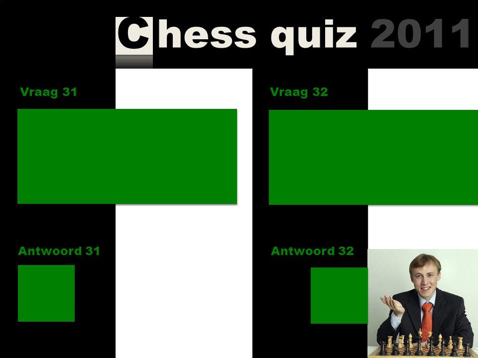 hess quiz 2011 C Vraag 29 Antwoord 29 Wie werd in 2010 Europees kampioen bij de vrouwen? Vraag 30 Antwoord 30 Wie staat momenteel bovenaan in het reuz