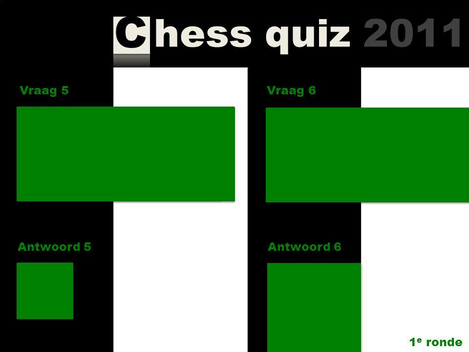 hess quiz 2011 C Vraag 3 Antwoord 3 Wie schreef het boek Russian Silhouettes? Genna Sosonko Vraag 4 Antwoord 4 Wanneer is de site www.chesscafe.com op