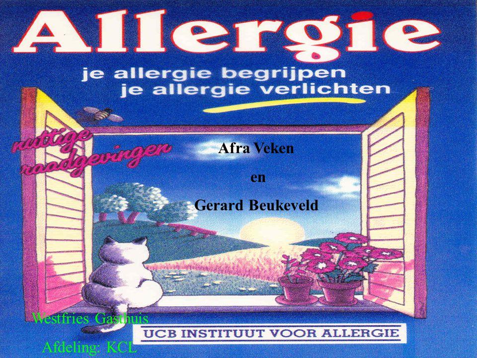 Allergeen klassifikatie Allergenen worden ingedeeld aan de hand van binnentreding lichaam: inhalatie.