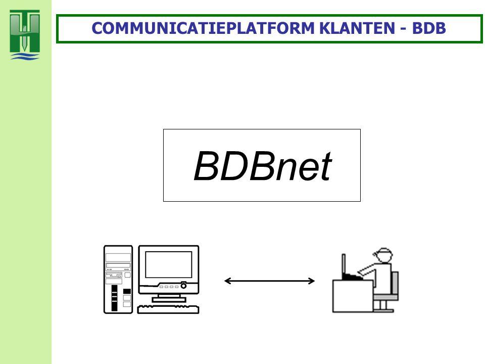 BDBnet COMMUNICATIEPLATFORM KLANTEN - BDB