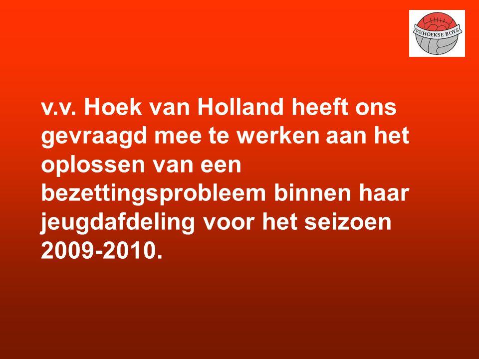 v.v. Hoek van Holland heeft ons gevraagd mee te werken aan het oplossen van een bezettingsprobleem binnen haar jeugdafdeling voor het seizoen 2009-201