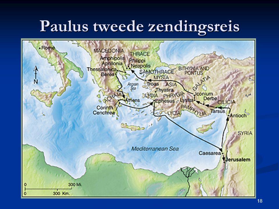 18 Paulus tweede zendingsreis