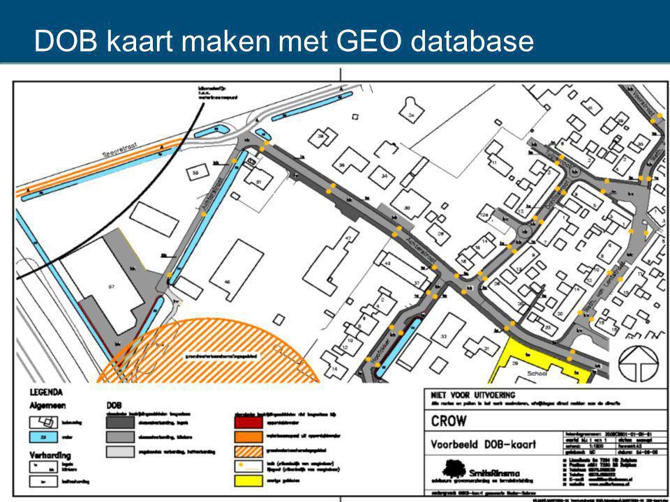 DOB kaart maken met GEO database