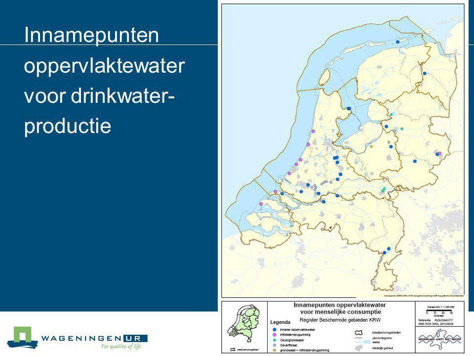 Innamepunten oppervlaktewater voor drinkwater- productie