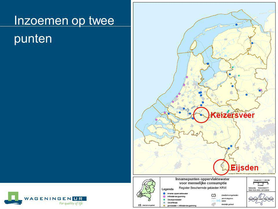 Glyfosaat, jaargem. concentratie in Maas (bron: Riwa Maas) Norm 2009: 6/18 > 0,1 2010: 1/7 > 0,1