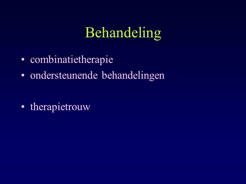 Behandeling combinatietherapie ondersteunende behandelingen therapietrouw