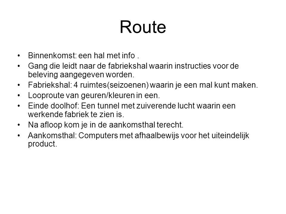 Route Binnenkomst: een hal met info.