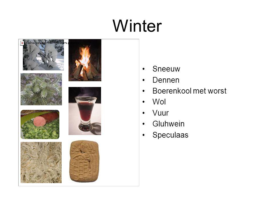 Winter Sneeuw Dennen Boerenkool met worst Wol Vuur Gluhwein Speculaas