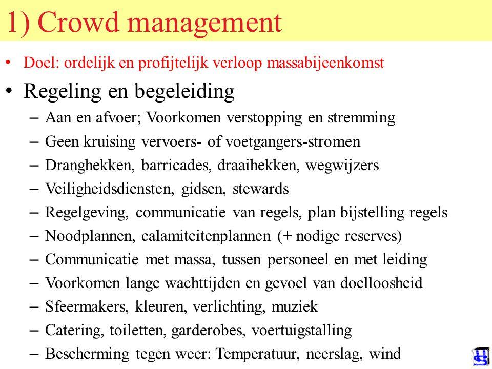 © 2006 JP van de Sande RuG Drie soorten crowd management in tijdschema MOBILISATIEACTIE PREPARATIE 1) Crowd management 2) Crowd control EVENTUEEL: 3) Riot control De nacht voor het evenement