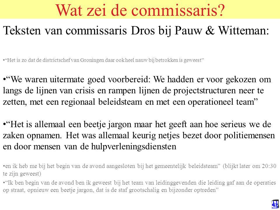 Wat had gedaan moeten worden? 1.Grondiger verkenning van het voortraject (US, Canada, Duitsland, Frankrijk, internetsites) 2.Horizontale communicatie