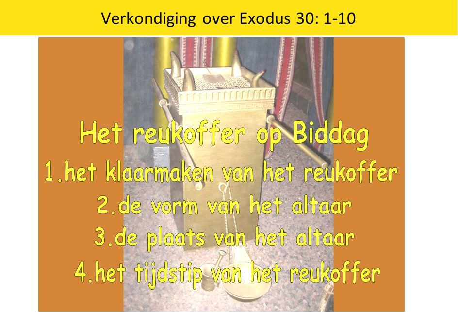 Verkondiging over Exodus 30: 1-10