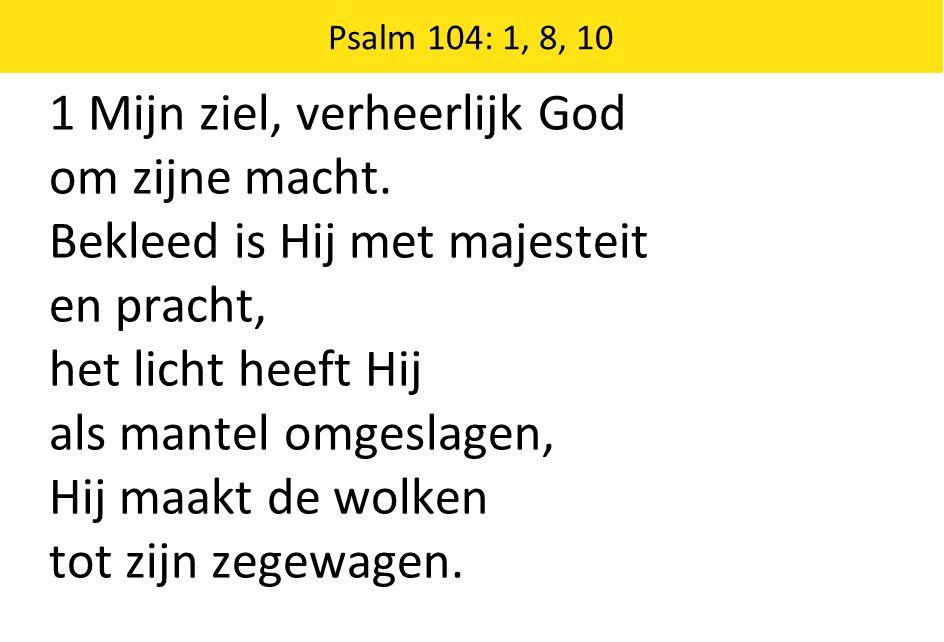 1 Mijn ziel, verheerlijk God om zijne macht.