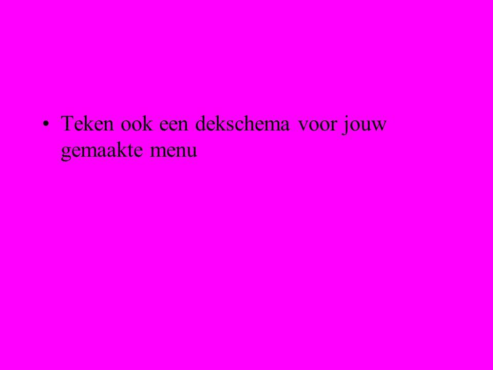 B.M.Dijkman ROC ASA, Amsterdam Maak nu een menu van 6 gangen voor de 1e kerstdag.