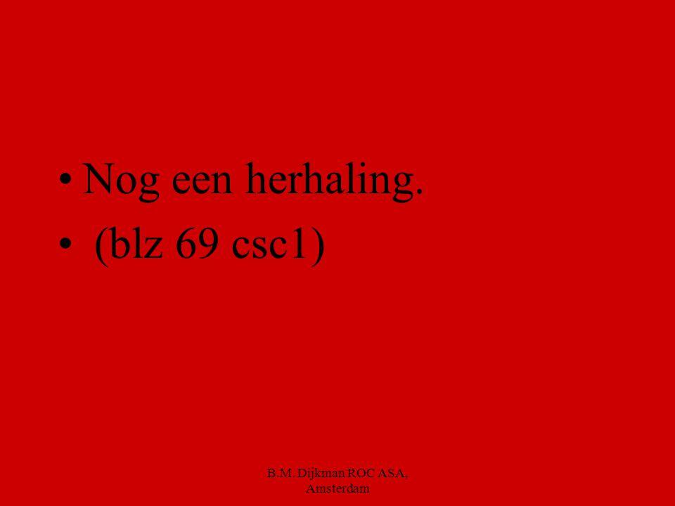 B.M. Dijkman ROC ASA, Amsterdam Bruine bonensoep Minestronesoep Huzarensalade Hartige salade Broodje brie gezond Uitsmijter hamkaas Broodje warm vlees