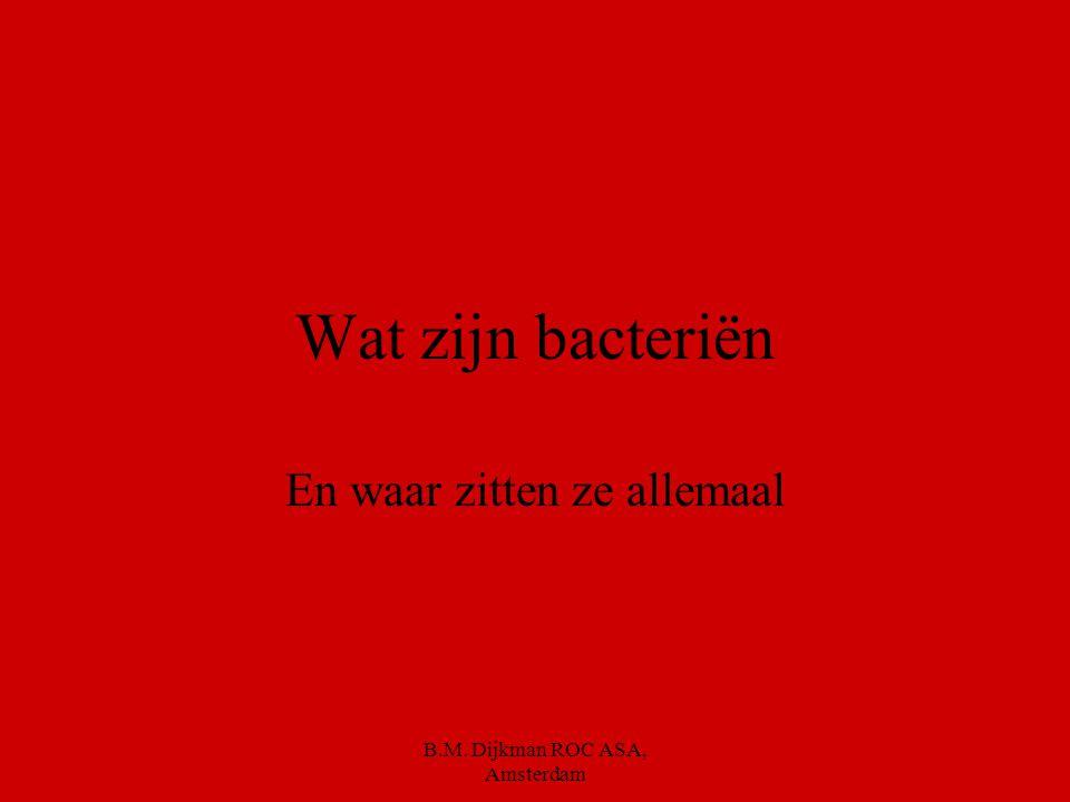 B.M. Dijkman ROC ASA, Amsterdam Je krijgt 5 minuten om minstens 5 maatregelen te noemen die jij kunt nemen om voedsel veilig te houden
