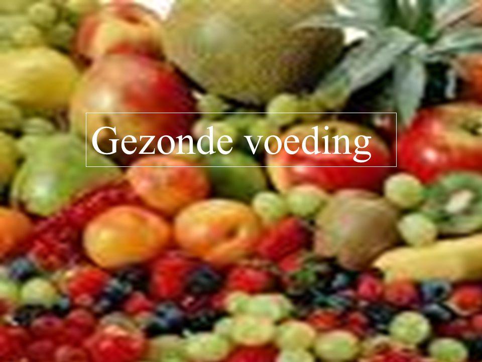 B.M. Dijkman ROC ASA, Amsterdam Gezonde voeding