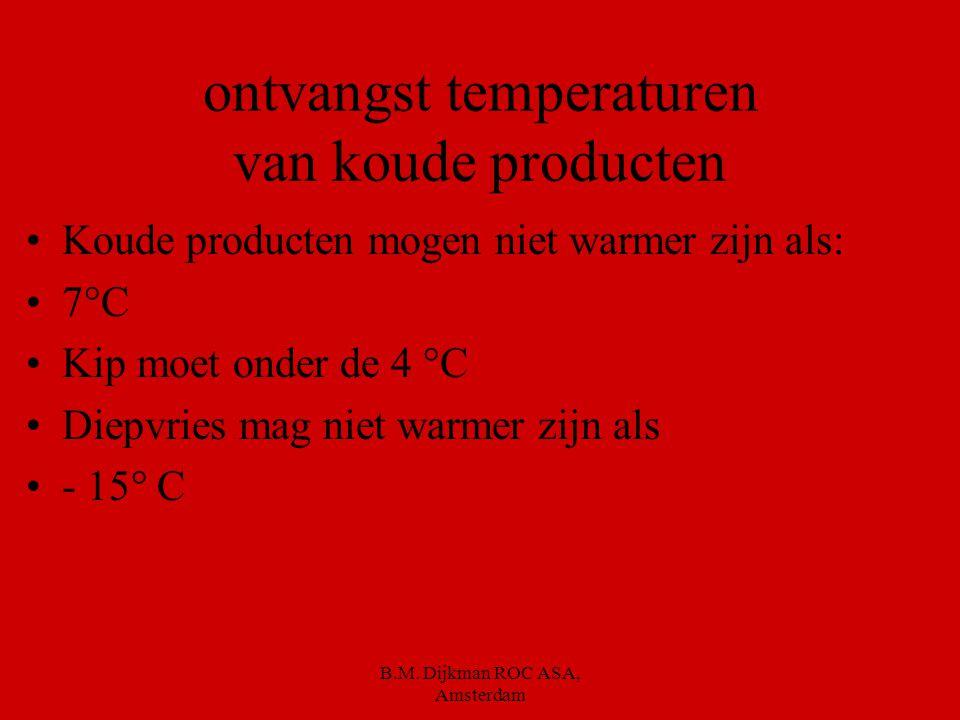 B.M. Dijkman ROC ASA, Amsterdam H.A.C.C.P. Is een richtlijn voor hygiënisch werken Is verplicht om mee te werken in voedingsindustrie Is uitgevonden d