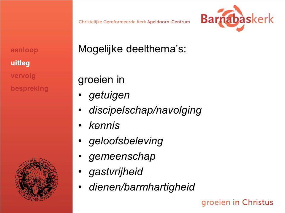 BarnabasKerk De Vanaf hier presentatie van de werkgroep; uitwerking nog te ontvangen van Jan ten Hove en uit te werken door Hans en Arjan Mogelijke de