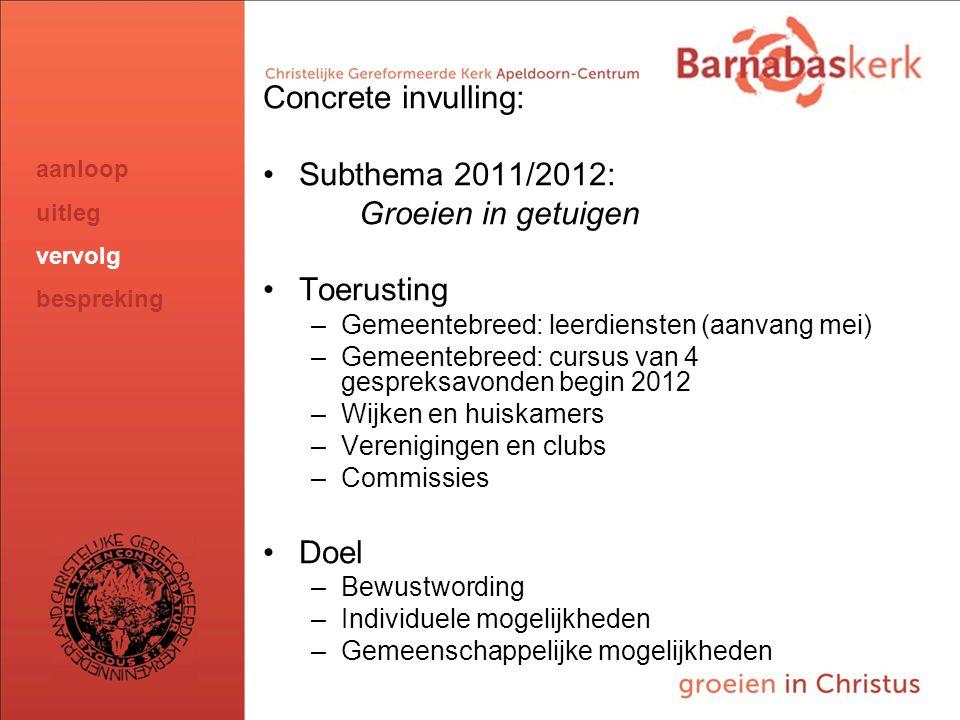 BarnabasKerk De Vanaf hier presentatie van de werkgroep; uitwerking nog te ontvangen van Jan ten Hove en uit te werken door Hans en Arjan Concrete inv