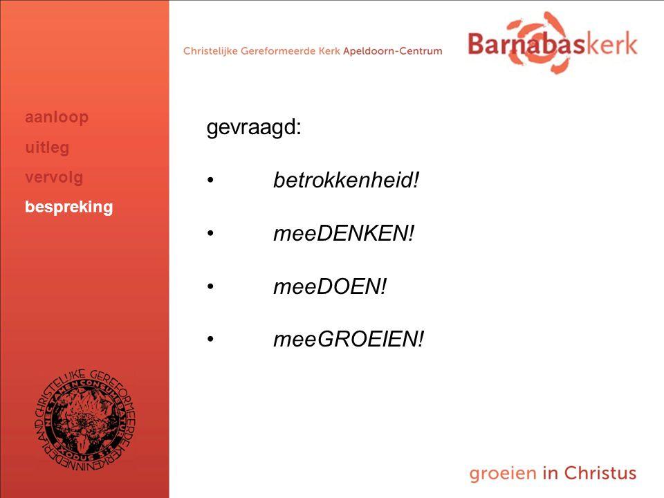BarnabasKerk De Vanaf hier presentatie van de werkgroep; uitwerking nog te ontvangen van Jan ten Hove en uit te werken door Hans en Arjan gevraagd: be