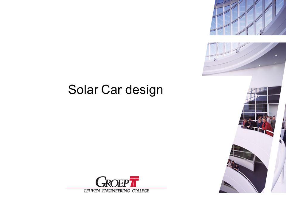 1 Solar Car Design Solar Car design
