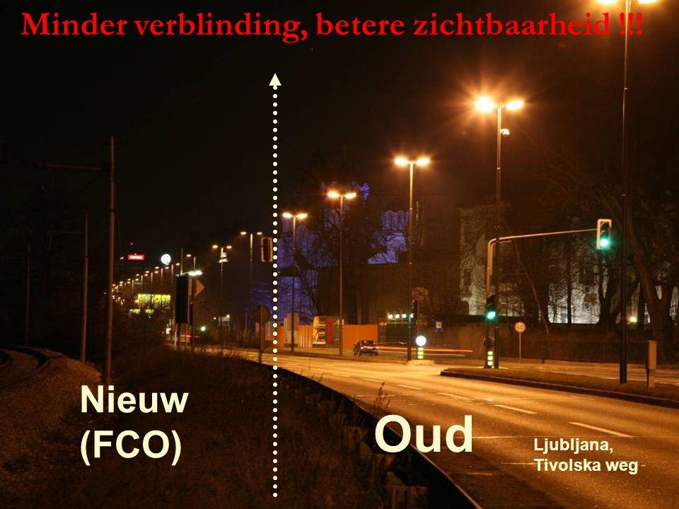 voorjaar 2009 Cursus kadervorming lichthinder 96 OudOud Nieuw (FCO) Minder verblinding, betere zichtbaarheid !!.