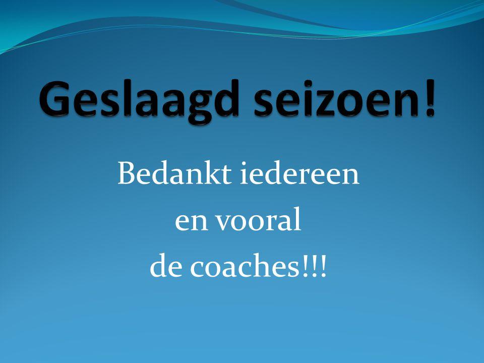 Bedankt iedereen en vooral de coaches!!!