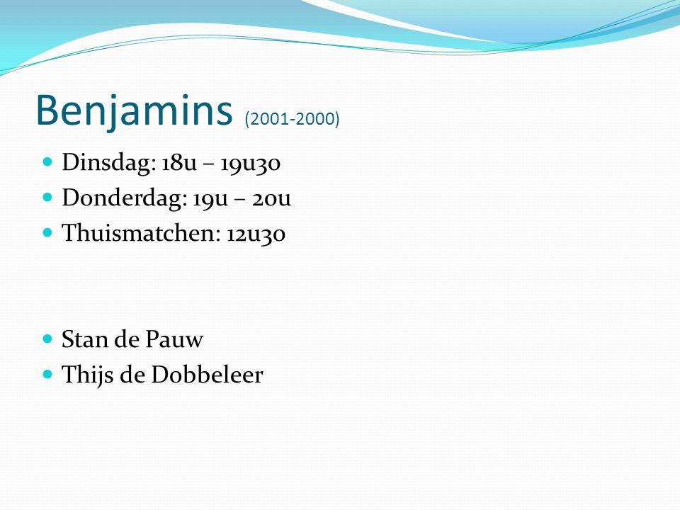 Pupillen (1999-1998) Seizoen 2011-2012 1998 - 1999 2 ploegen Seizoen 2012-2013 1999 - 2000 2 ploegen A & B - ploeg = spelers worden volgens niveau ingedeeld.