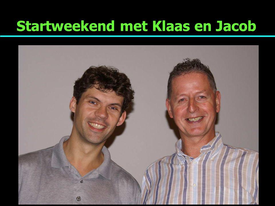 Startweekend met Klaas en Jacob