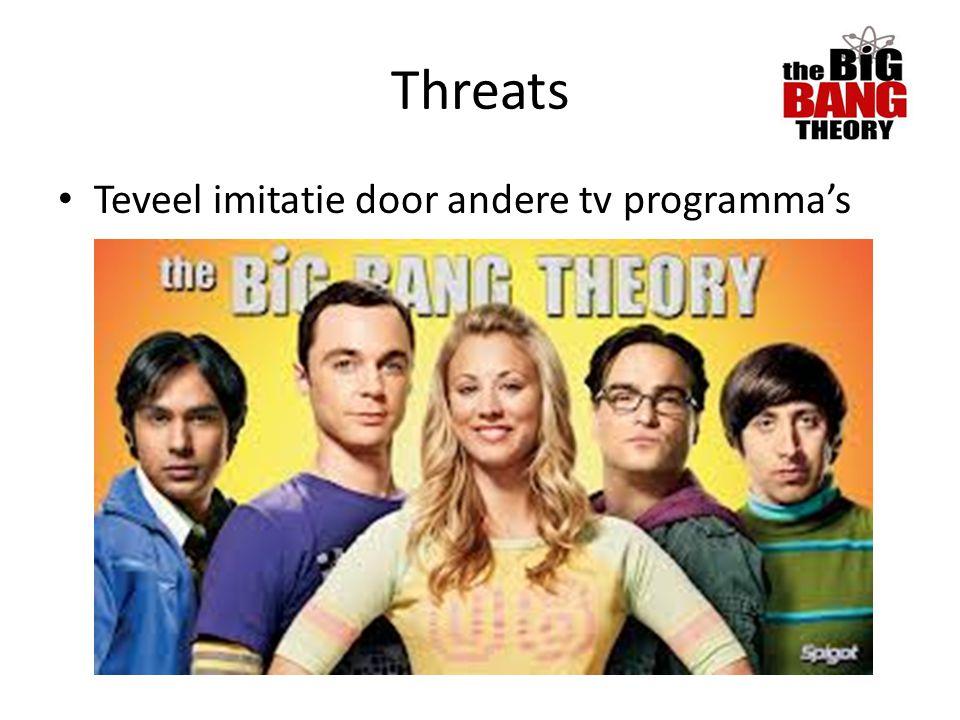 Threats Teveel imitatie door andere tv programma's