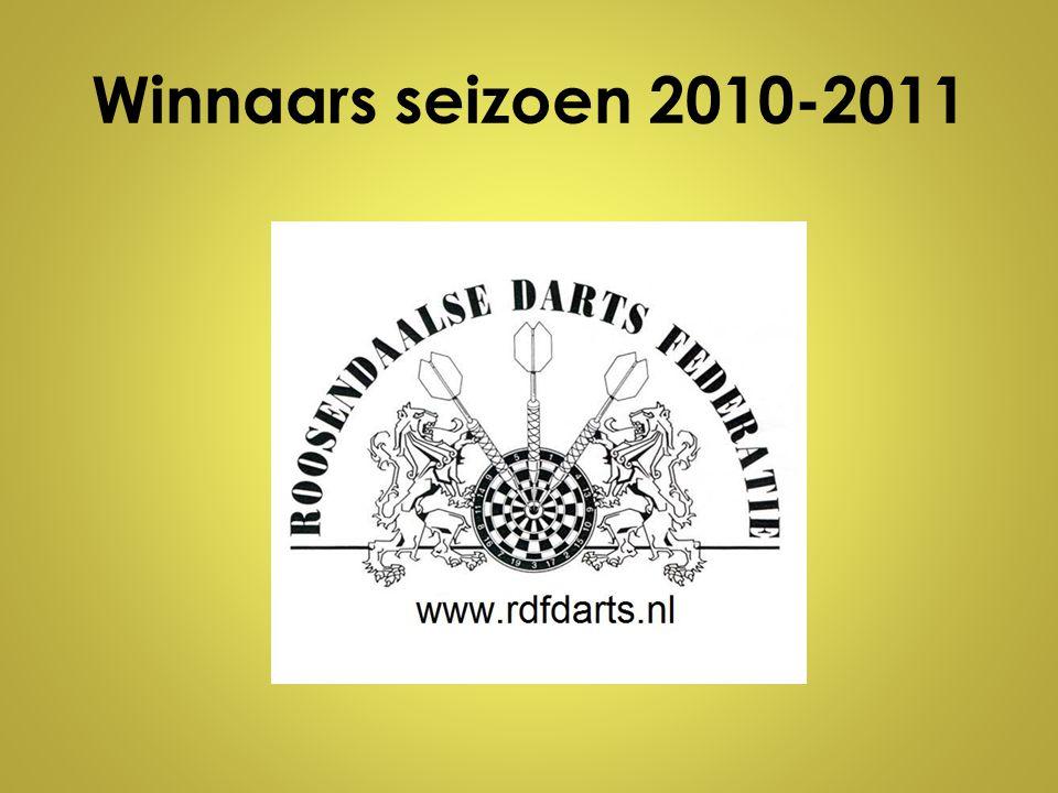 Winnaars seizoen 2010-2011