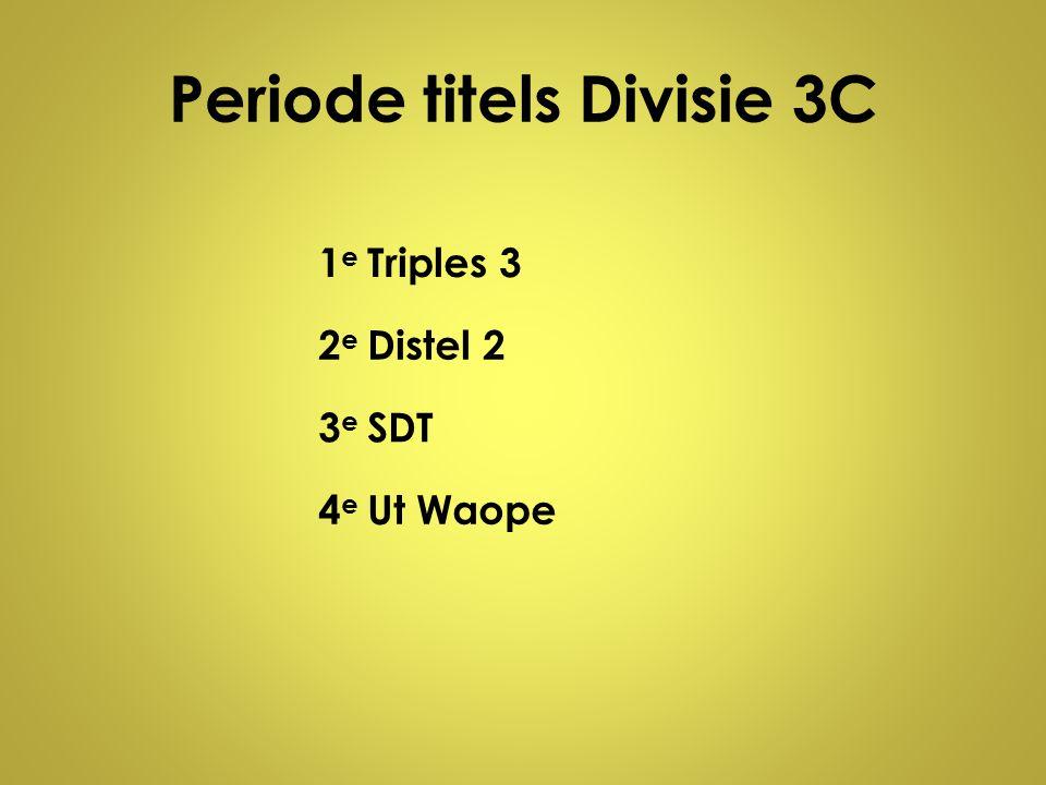 Periode titels Divisie 3C 1e1e Triples 3 2e2e Distel 2 3e3e SDT 4e4e Ut Waope
