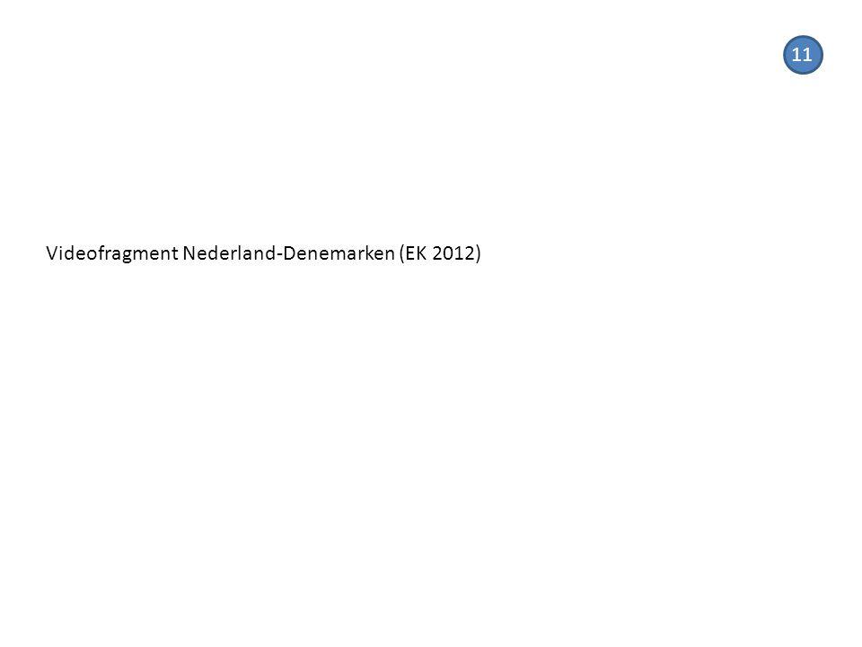 Videofragment Nederland-Denemarken (EK 2012) 11