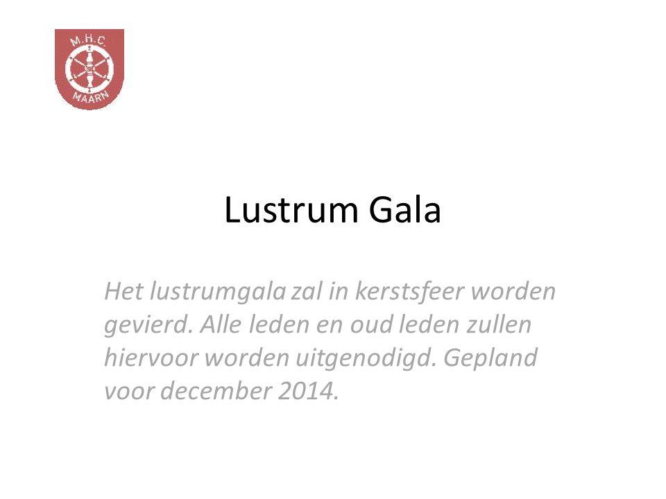 Het lustrumgala zal in kerstsfeer worden gevierd.
