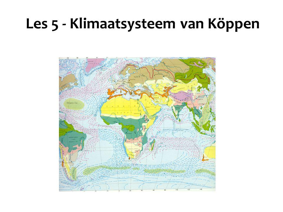 Les 5 - Klimaatsysteem van Köppen