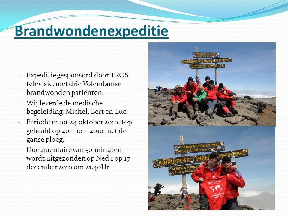 Brandwondenexpeditie - Expeditie gesponsord door TROS televisie, met drie Volendamse brandwonden patiënten.