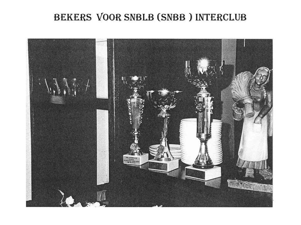 Bekers voor SNBLB (SNBB ) interclub
