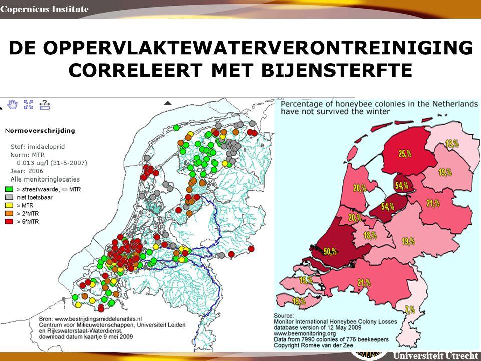 Copernicus Institute Universiteit Utrecht DE OPPERVLAKTEWATERVERONTREINIGING CORRELEERT MET BIJENSTERFTE