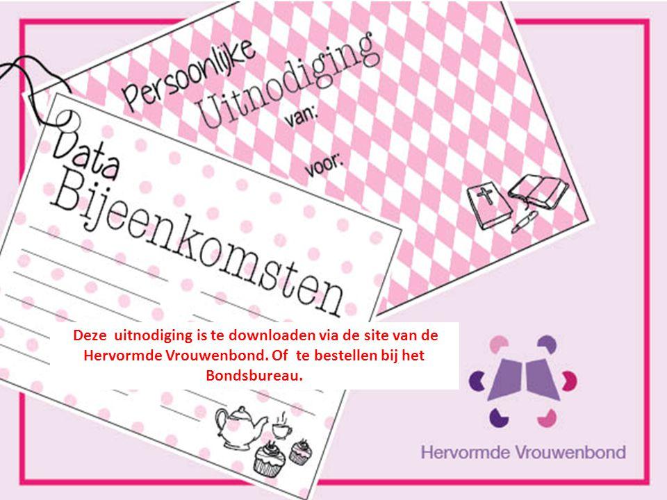 De contactpersoon zorgt voor: * het aanvragen van folders en Hervormde Vrouwen. * de uitnodiging om de data van de bijeenkomsten op in te vullen. * ov
