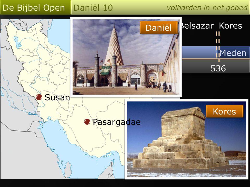 Babel De Bijbel Open Daniël 10 volharden in het gebed Meden en Perzen 536 Darius Kores 538537 24 3 1014Abib Daniël 10 : 5 Ik sloeg mijn ogen op en zag, en zie, er was een Man, gekleed in linnen, Zijn heupen omgord met het fijne goud uit Ufaz.