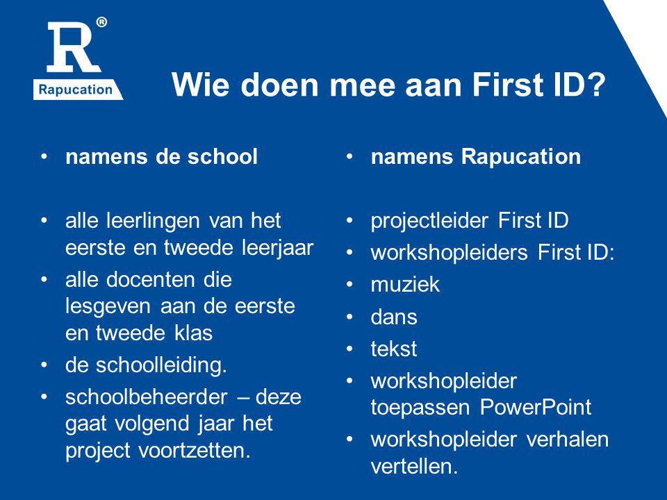 Wie doen mee aan First ID.