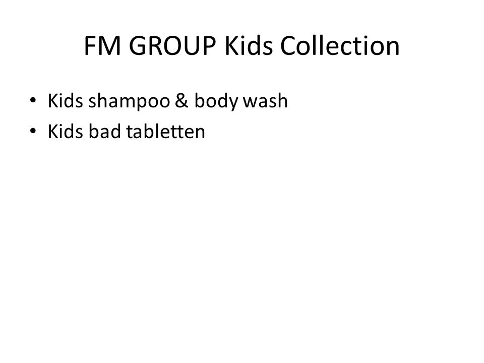 FM GROUP Kids Collection Kids shampoo & body wash Kids bad tabletten