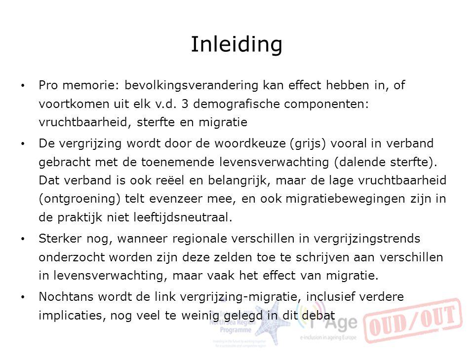 Recente trends: Vlaanderen in Europa De grote westerse demografische trends zijn bekend.