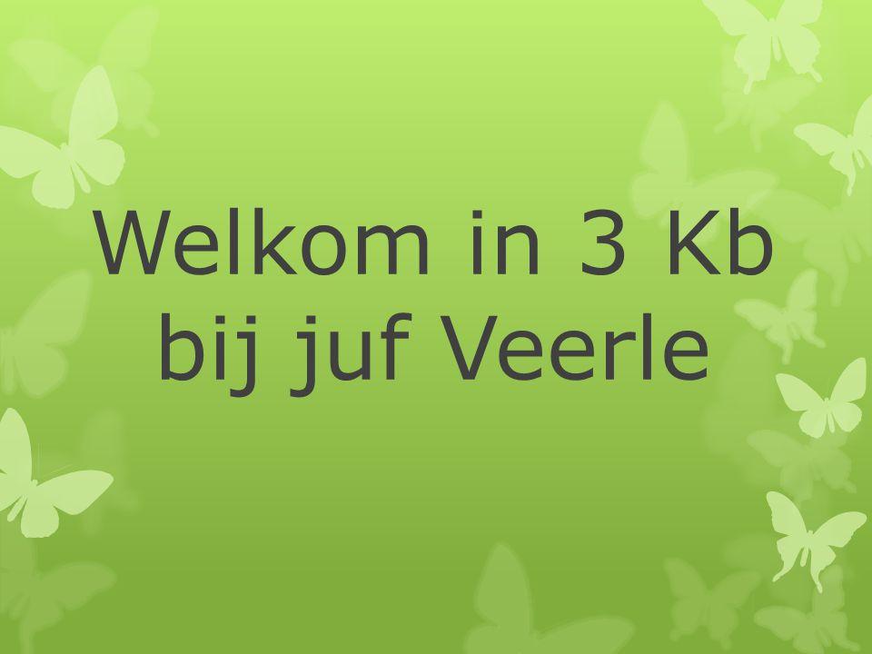 Welkom in 3 Kb bij juf Veerle